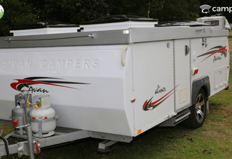 Modern camper trailer for hire