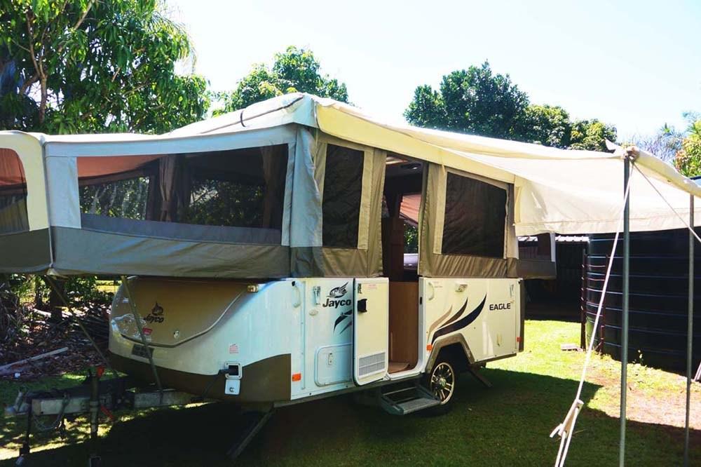 Jayco Eagle exterior setup